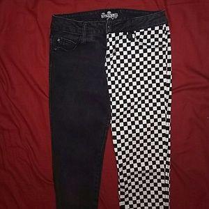 Royal Bones punk skinny jeans, sz 1